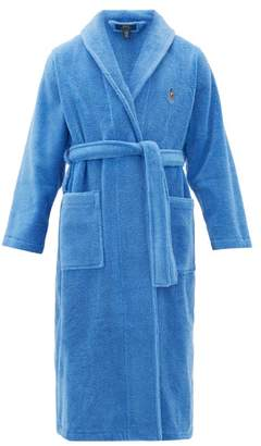 Polo Ralph Lauren Logo-embroidered Terry Robe - Mens - Blue