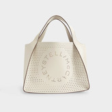 Stella McCartney Stella Logo Tote In White Eco Leather