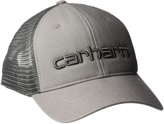 Carhartt Men's Canvas Mesh-Back Logo Graphic Cap
