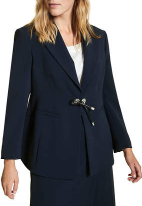 Marina Rinaldi Plus Size Carnet Fitted Tricot Jacket