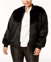 Say What? Trendy Plus Size Faux-Fur Bomber Jacket