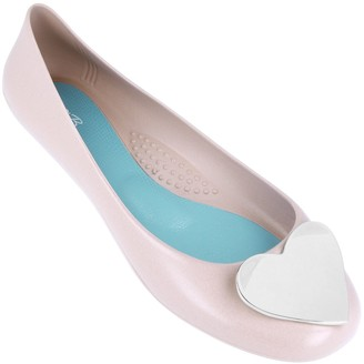 OKA b. Oka-B Heart Embellishment Ballet Flats - Adelpha