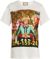 Gucci News Presenter-print cotton T-shirt