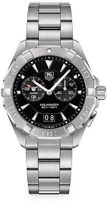 Tag Heuer Aquaracer 40.5MM Stainless Steel Quartz Bracelet Chronograph Watch