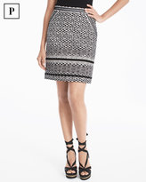 White House Black Market Petite Safari Print Skirt