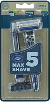 Boots Max Shave 5 Blade Disposable 3 pack