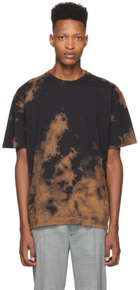 Cmmn Swdn Brown and Black Trek Bleached T-Shirt