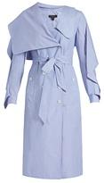 Burberry Ruffled cotton-chambray shirtdress