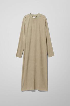 Weekday Waverly Pleated Dress - Black