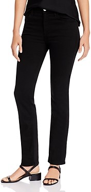 7 For All Mankind Jen7 by Slim Straight-Leg Jeans in Black