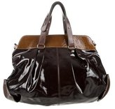Marni Bicolor Patent Leather Satchel