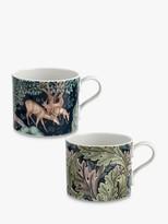 Morris & Co. The Brook/Acanthus Mugs, Set of 2, 340ml, Multi
