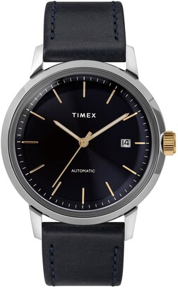 Timex Marlin Automatic 40mm Leather Strap Watch 40mm