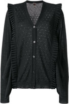 I'M Isola Marras frill detail V-neck cardigan