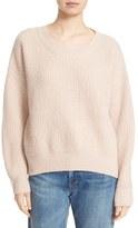 Vince Rib Wool Blend Crewneck Sweater