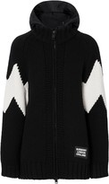 Burberry detachable hood zipped cardigan