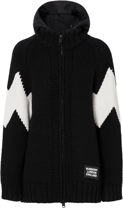 Burberry Detachable Hood Zipped Cardigan