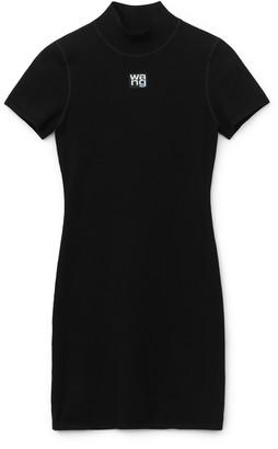 alexanderwang.t Bodycon Logo Patch Dress