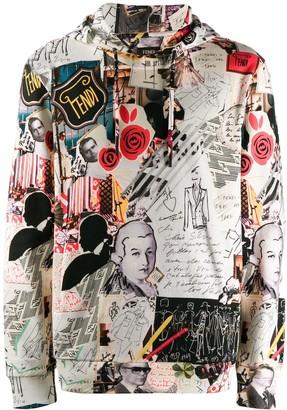 Fendi graphic print hoodie
