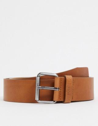 HUGO BOSS Serge leather belt in tan