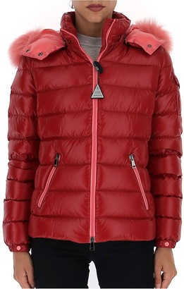 Moncler Fur Trim Hooded Puffer Jacket