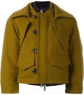DSQUARED2 draped layer pocket coat - women - Polyamide/Polyester/Virgin Wool - 40