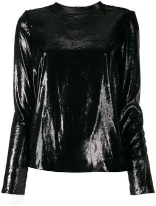 Philosophy di Lorenzo Serafini Shimmer Lace Cuff Top