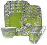 222 Fifth Adelaide 16-Piece Dinnerware Set in Green