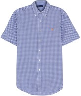 Polo Ralph Lauren Blue Checked Seersucker Shirt