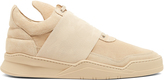 Filling Pieces Elastic Strap low-top suede trainers