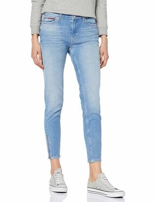 Tommy Jeans Hilfiger Denim Women's MID RISE SKNY NORA 7/8 ZIP CNYL Skinny Jeans