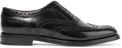 Church's The Burwood Glossed-leather Brogues - Black
