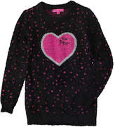 Betsey Johnson Girls' Heart Sweater