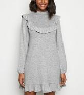 New Look Frill Trim Soft Knit Smock Dress