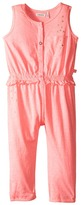 Ikks Jersey Jumpsuit with Metallic Polka Dots & Button Up Front No Snaps (Toddler)
