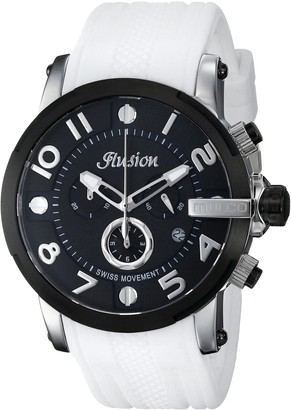 Mulco Unisex Ilusion Roll Analog Display Swiss Quartz Watch - Multifunctional 100% Silicone Band Stainless Steel (White/Black)