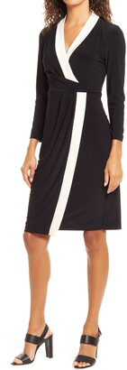 Anne Klein Colorblock City Long Sleeve Dress