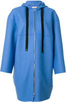 Marni zip cocoon coat - women - Polyamide/Wool/Virgin Wool - 40