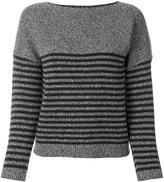 Bellerose elbow patch striped jumper