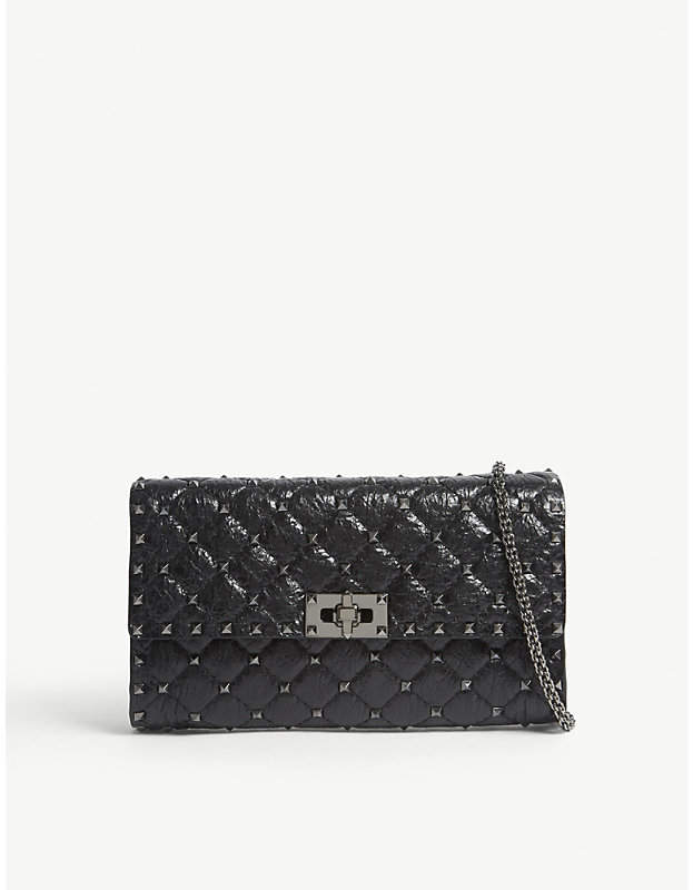 Valentino Rockstud quilted leather cross-body bag