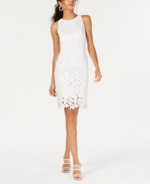 Bar III Sleeveless Lace Sheath Dress, Created for Macy's