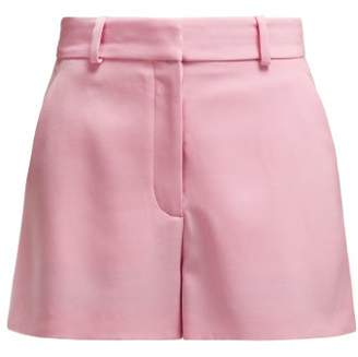 Stella McCartney High-rise Wool-twill Shorts - Womens - Pink