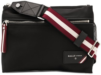 Bally Nylon Double-Pouch Shoulder Bag