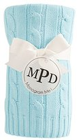 Mud Pie Knit Blanket, Light Blue Cable by