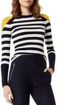 Karen Millen Color-Block Striped Sweater