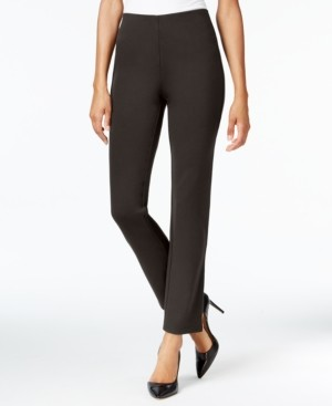 JM Collection Ponte Pull-On Straight-Leg Pants, in Petite & Petite Short, Created for Macy's