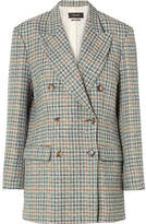 Isabel Marant Telis Oversized Checked Tweed Blazer - Green