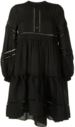 Cynthia Rowley Lace-Trimmed Mini Dress