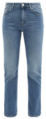 Totême Straight-leg Mid-rise Cropped Jeans - Denim