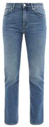 Totême Straight-leg Mid-rise Cropped Jeans - Womens - Denim